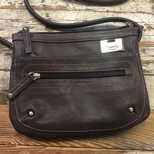 Tignanello brown leather crossbody purse